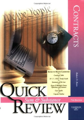 9780314166838: Sum and Substance Quick Review: Contracts (Quick Review Series)