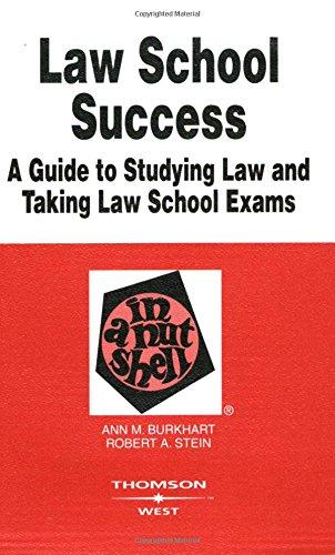 9780314167798: Law School Success in a Nutshell (Nutshells)