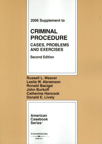 9780314168757: Criminal Procedure: Cases, Problems & Exercises (American Casebook Series)