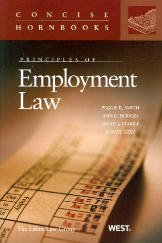 9780314168771: Principles of Employment Law (Concise Hornbook Series)