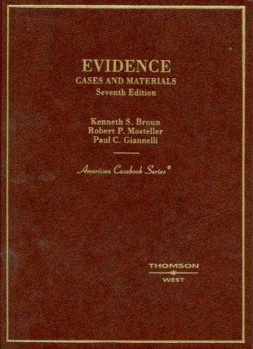 9780314168795: Evidence, Cases and Materials, (American Casebook Series)