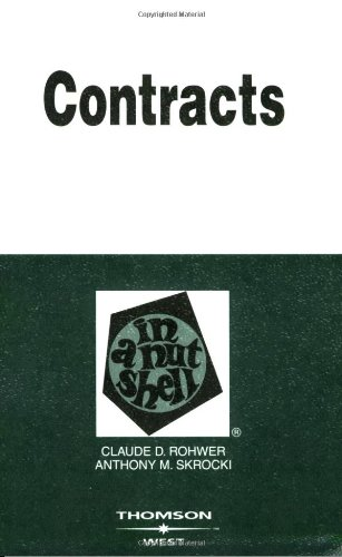 9780314169242: Contracts in a Nutshell (In a Nutshell (West Publishing))