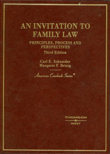 9780314169396: Invitation to Family Law (American Casebook Series)