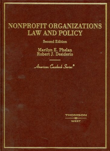 9780314169471: Non-Profit Organizations Law and Policy, (American Casebook Series)