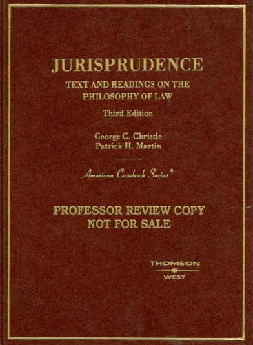 9780314170736: Jurisprudence, Text and Readings on the Philosophy of Law (American Casebook Series)