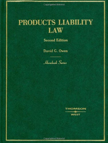 9780314170859: Hornbook on Products Liability Second Edition