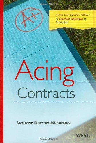 9780314171719: Acing Contracts (Acing Series)
