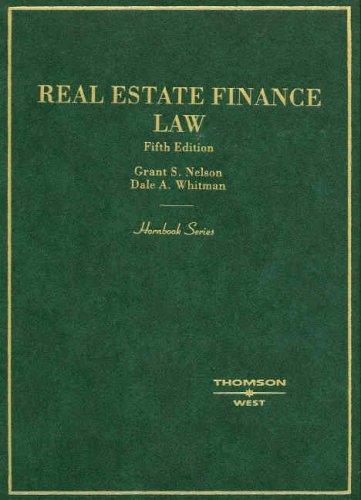 9780314172488: Hornbook on Real Estate Finance Law (Hornbooks)