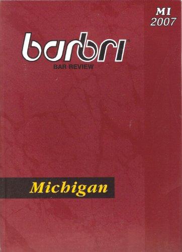 9780314173775: Barbri Bar Review Michigan
