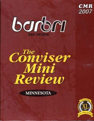 The Conviser Mini Review Minnesota (Barbri Bar: Barbri