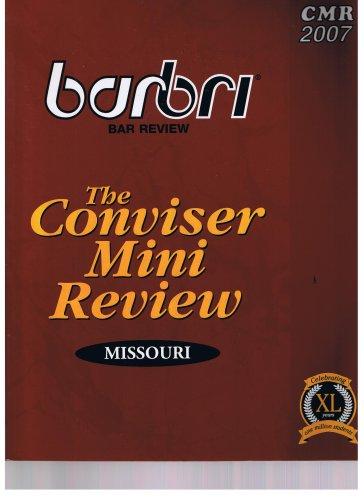 The Conviser Mini Review Missouri Barbri Bar: Barbri