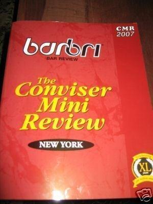 2007 NY BarBri Bar Conviser Mini Review: BarBri