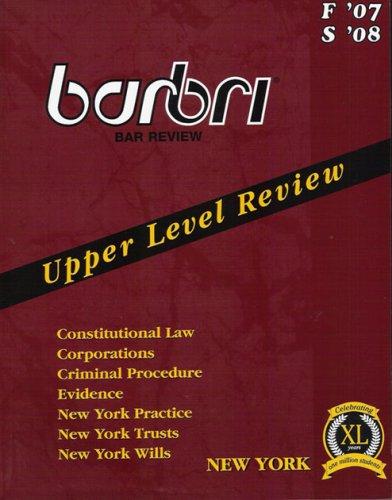 Barbri Upper Level Review New York F'07: BarBri, Thompson Financial
