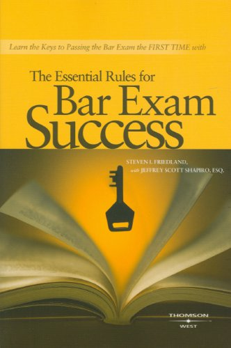 9780314176783: The Essential Rules for Bar Exam Success (Career Guides)