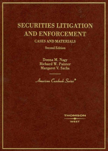 9780314176899: Securities Lititgation and Enforcement:Cases and Materials (American Casebook Series)