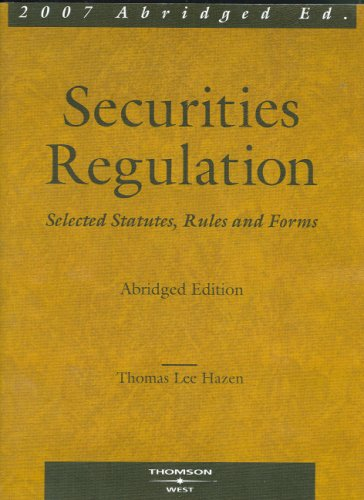9780314177032: Securities Regulation: Selected Statutes, Rules & Forms