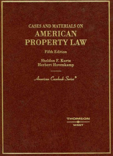 9780314177179: Cases and Materials on American Property Law (American Casebooks)