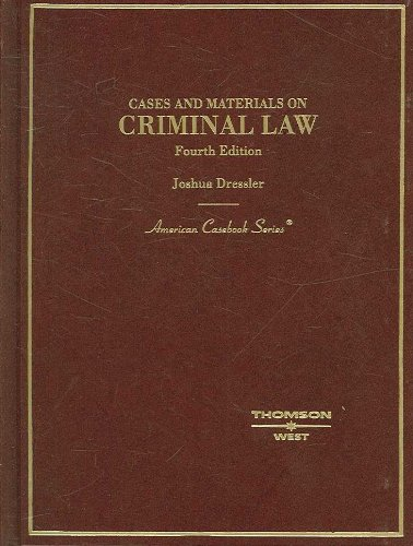 9780314177193: Cases and Materials on Criminal Law (American Casebook Series)