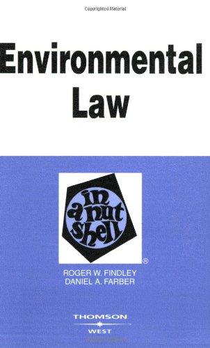 9780314177209: Environmental Law in a Nutshell (Nutshell Series)