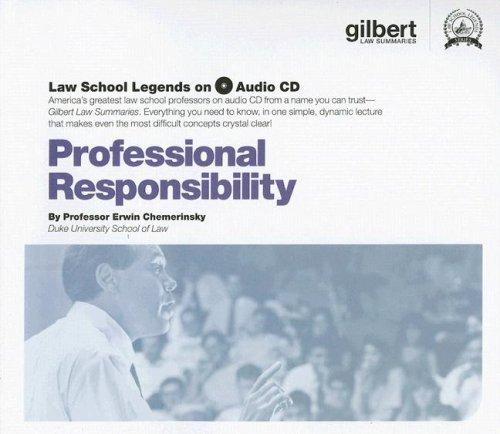 9780314179647: Professional Responsibility, (Law School Legends Audio Series)
