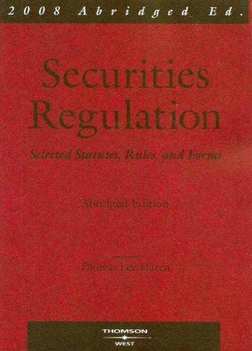 9780314179883: Securities Regulation: Selected Statutes, Rules & Forms (Academic Statutes)