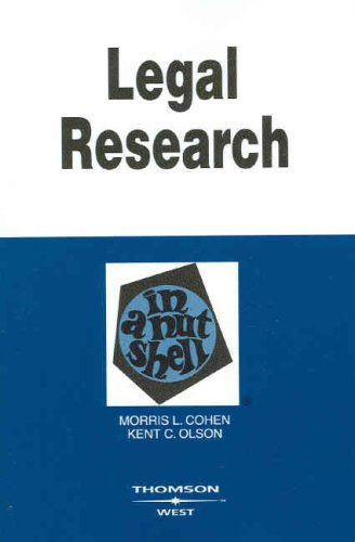9780314180070: Legal Research in a Nutshell (In a Nutshell (West Publishing))