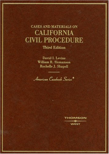 9780314180117: Cases and Materials on California Civil Procedure (American Casebook)