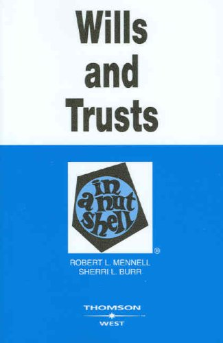 9780314180131: Wills and Trusts in a Nutshell (Nutshell Series)