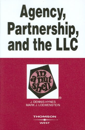 9780314180209: Agency Partnership and the LLC in a Nutshell (Nutshell Series)