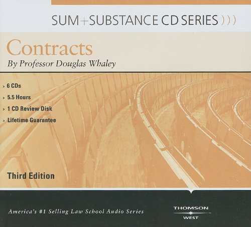Whaley's Sum and Substance Audio on Contracts, 3d (CD) (English and English Edition): Whaley, ...