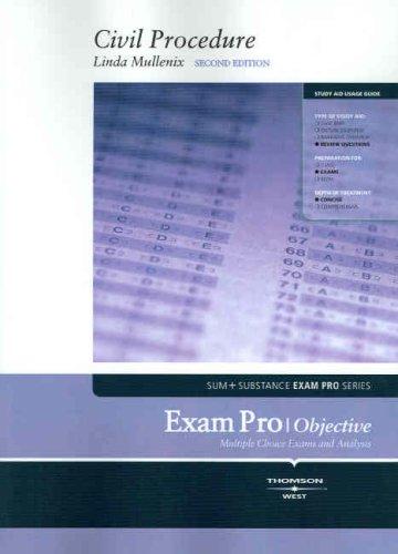 9780314180681: Exam Pro on Civil Procedure (Exam Pro Series)