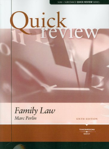 9780314181008: Sum & Substance Quick Review on Family Law