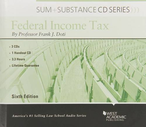 9780314181077: Audio on Federal Income Tax (Sum and Substance Audio)