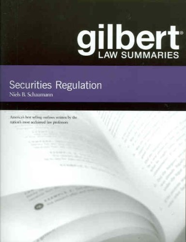 9780314181114: Gilbert Law Summaries on Securities Regulation