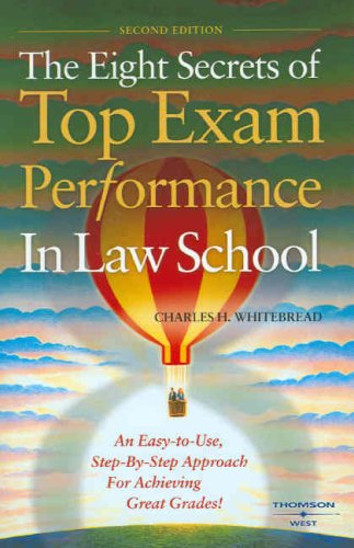 9780314183583: The Eight Secrets of Top Exam Performance in Law School (Career Guides)