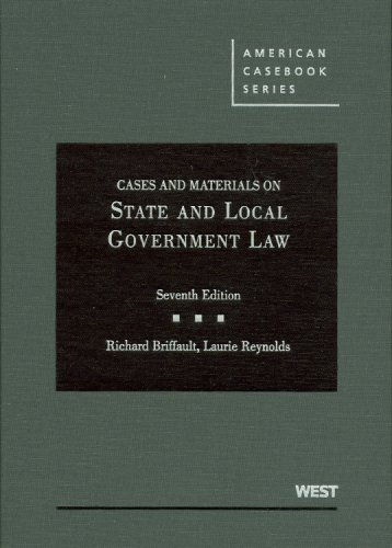 9780314183613: Cases and Materials on State and Local Government Law (American Casebook Series)