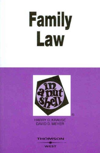9780314183675: Family Law in a Nutshell, 5th (In a Nutshell (West Publishing)) (Nutshell Series)