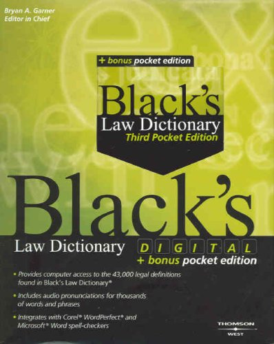 9780314183736: Black's Digital Law Dictionary 8th Ed + Black's Law Dictionary, Pocket 3rd Ed