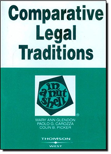 9780314184283: Comparative Legal Traditions in a Nutshell