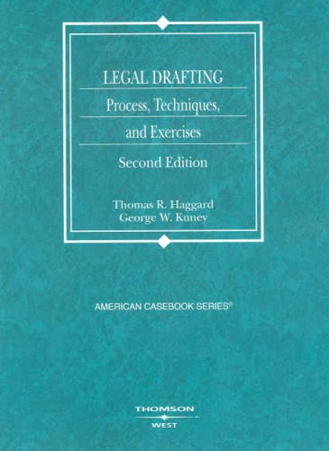 9780314184405: Legal Drafting, Process, Techniques, and Exercises (Coursebook)