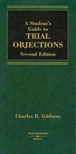 9780314184856: A Student's Guide to Trial Objections