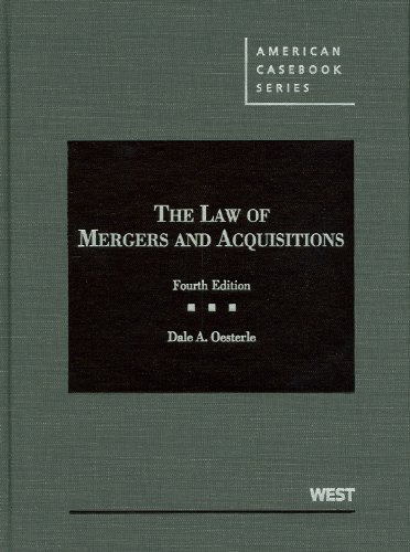 9780314184887: The Law of Mergers and Acquisitions (American Casebook Series)