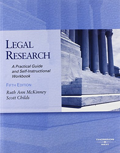 9780314185020: Legal Research: A Practical Guide and Self-Instructional Workbook, 5th with 2008 Computer Assisted Legal Research Package (Coursebook)