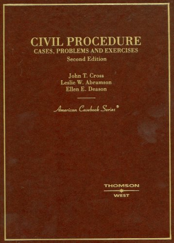 9780314185105: Civil Procedure: Cases, Problems and Exercises (American Casebook Series)