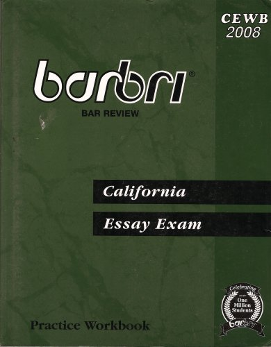 Barbri California Essay Exam Practice Workbook   Barbri California Essay Exam Practice Workbook Speech Outline Buying S also Sample High School Admission Essays  Buy Research Literature Review