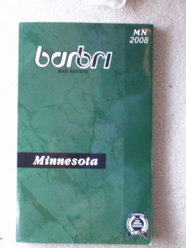 Barbri Bar Review Minnesota Mn 2008: Barbri