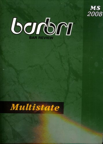 9780314186386: Barbri Bar Review: Multistate 2008 by Barbri (2008-05-03)