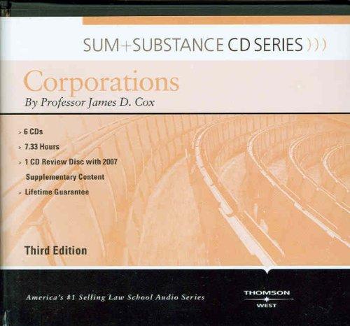 9780314188199: Corporations (Sum + Substance)