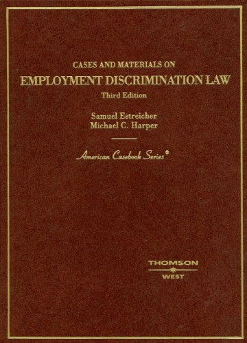 9780314189776: Cases and Materials on Employment Discrimination Law (Americvan Casebook)