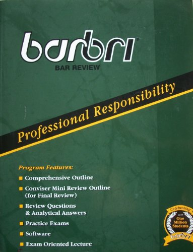 Barbri Bar review Professional Responsibility: Wydick